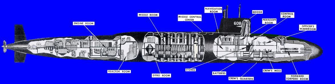 موسوعة غواصات البحرية الامريكية بعد الحرب العالمية الثانية بالكامل Ssbn608_cut